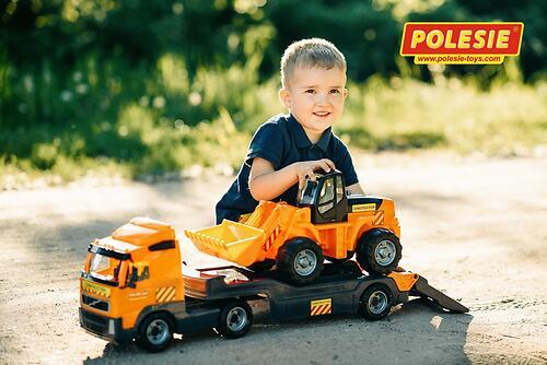 Автомобиль-трейлер + трактор-погрузчик Полесье Volvo (4)
