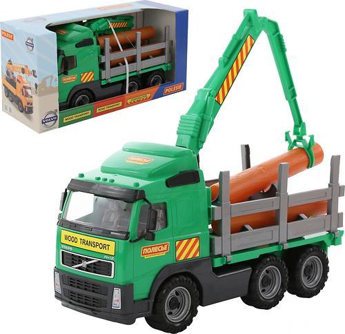 Автомобиль-лесовоз Полесье Volvo в коробке (1)
