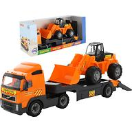 Автомобиль-трейлер + трактор-погрузчик Полесье Volvo