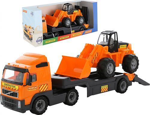 Автомобиль-трейлер + трактор-погрузчик Полесье Volvo (3)