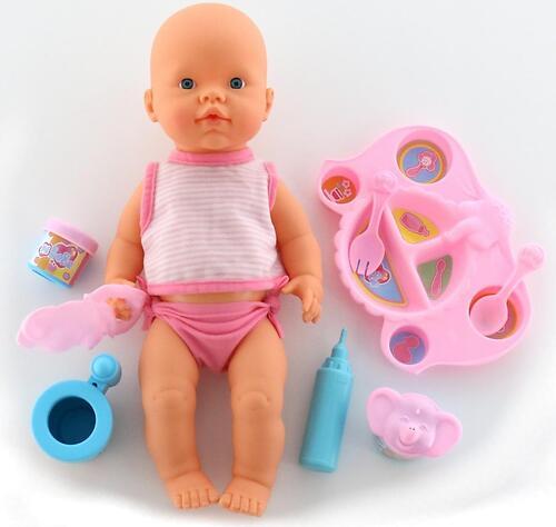 Кукла пупс Falca пьет и кушает (с набором для кормления) 40 см (9)