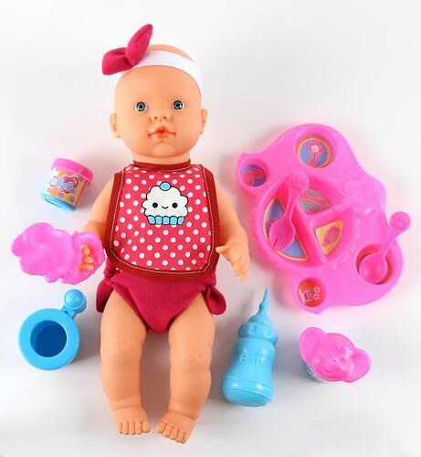 Кукла пупс Falca пьет и кушает (с набором для кормления) 40 см (10)