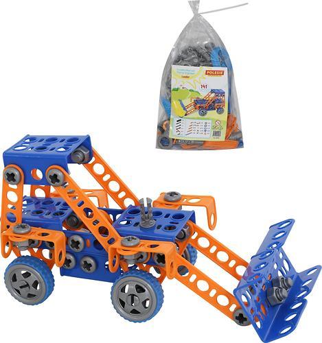 Конструктор Полесье Изобретатель - Трактор-погрузчик №1 (141 элемент) (в пакете) (6)
