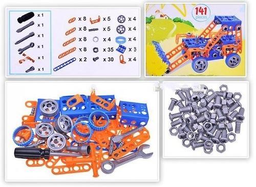 Конструктор Полесье Изобретатель - Трактор-погрузчик №1 (141 элемент) (в пакете) (5)