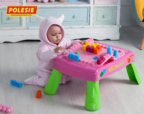 Набор Полесье игровой с конструктором (20 элементов) в коробке (розовый) (18)