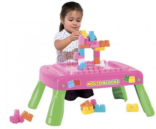 Набор Полесье игровой с конструктором (20 элементов) в коробке (розовый) (12)