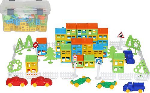 Конструктор Полесье Построй свой город (224 элемента) (в контейнере) (4)