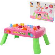 Набор Полесье игровой с конструктором (20 элементов) в коробке (розовый)