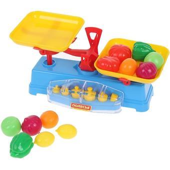 Игровой набор Полесье Весы+набор продуктов, 12 элементов - Minim