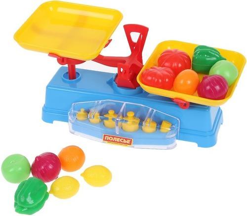 Игровой набор Полесье Весы+набор продуктов, 12 элементов (1)