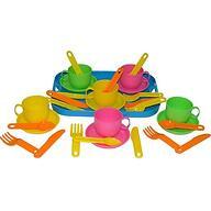 Набор детской посуды Полесье Минутка с подносом на 6 персон