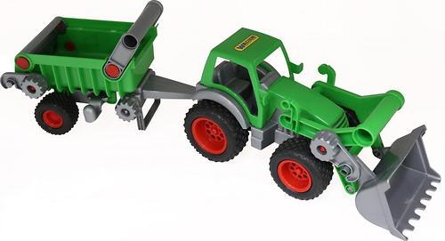 Трактор-погрузчик с полуприцепом Полесье Фермер-техник (в сетке) (1)