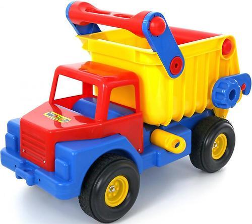 Автомобиль-самосвал №1 Полесье с резиновыми колёсами (5)