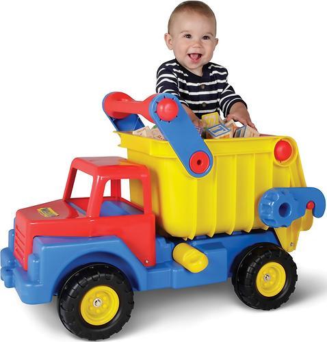 Автомобиль-самосвал №1 Полесье с резиновыми колёсами (6)