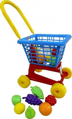 Тележка Полесье Supermarket №1 + набор продуктов (в сеточке) (1)