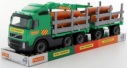 Автомобиль-лесовоз Полесье Volvo с прицепом (4)