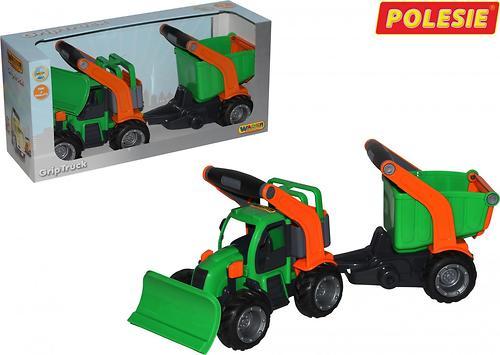 Трактор Полесье ГрипТрак снегоуборочный с полуприцепом (в коробке) (4)
