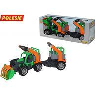 Трактор-погрузчик Полесье ГрипТрак с полуприцепом для животных (в коробке)