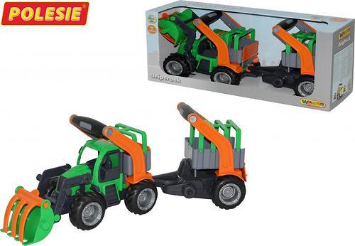 Трактор-погрузчик Полесье ГрипТрак с полуприцепом для животных (в коробке) (4)