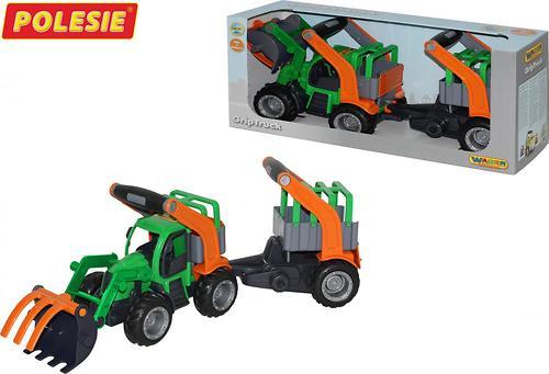 Трактор-погрузчик Полесье ГрипТрак с полуприцепом для животных (в коробке) (5)