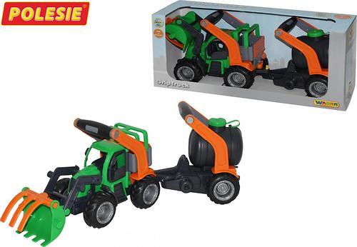 Трактор-погрузчик с цистерной Полесье ГрипТрак (в коробке) (7)