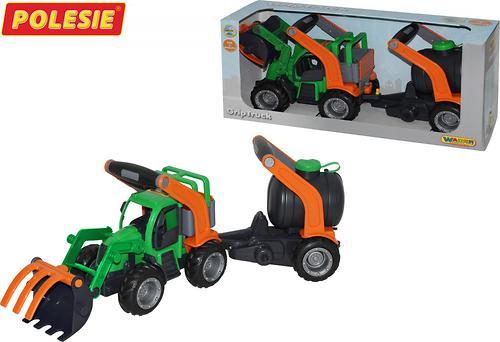 Трактор-погрузчик с цистерной Полесье ГрипТрак (в коробке) (6)