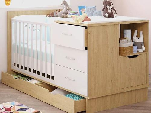 Кроватка-трансформер детская Polini Classic Дуб/Белый глянец (7)