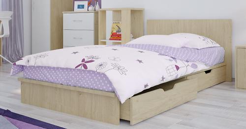 Кроватка-трансформер детская Polini Classic Дуб/Белый глянец (10)