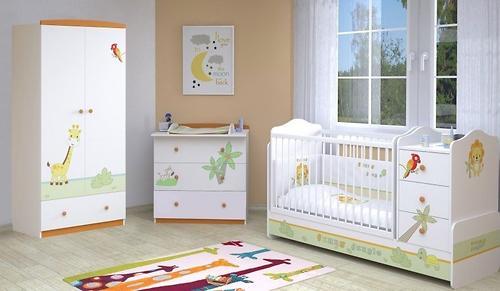 Кроватка-трансформер Polini Джунгли Белый-Серый (8)