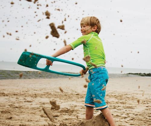 Лопата Quut Scoppi с ситом для песка и снега Lagoon Green (12)