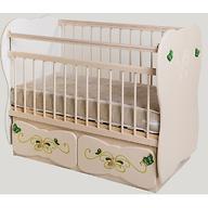 Кровать детская №5 Сафаня МДФ Бабочка маятник Ваниль