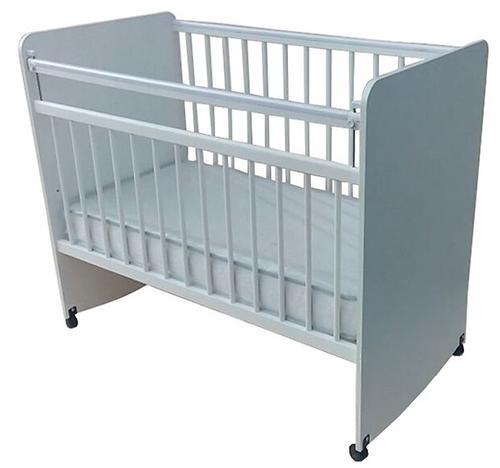 Кровать детская Сафаня №1 ЛДСП колесо/качалка Белая (1)
