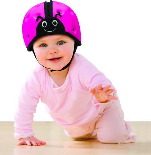 Мягкая шапка-шлем для защиты головы SafeheadBABY Божья коровка Красная (14)