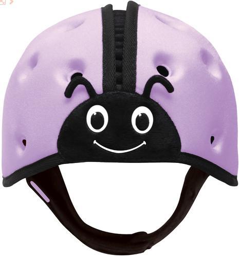 Мягкая шапка-шлем для защиты головы SafeheadBABY Божья коровка Фиолетовая (8)