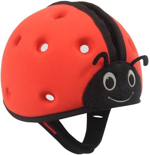 Мягкая шапка-шлем для защиты головы SafeheadBABY Божья коровка Красная (9)