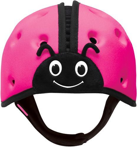 Мягкая шапка-шлем для защиты головы SafeheadBABY Божья коровка Розовая (8)