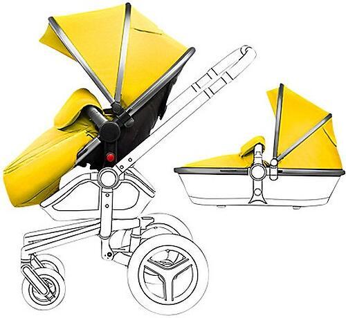 Aксессуары для коляски SURF Graphite/Yellow (1)