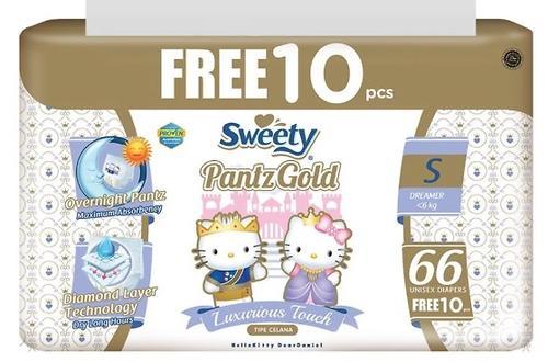 Трусики Sweety Pantz GOLD Size S 3-6 кг 66+10 шт (1)
