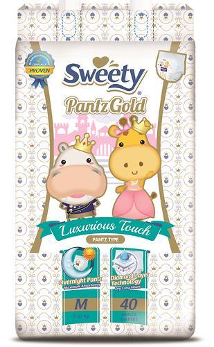 Трусики Sweety Pantz GOLD Size M 7-12 кг 40шт (1)