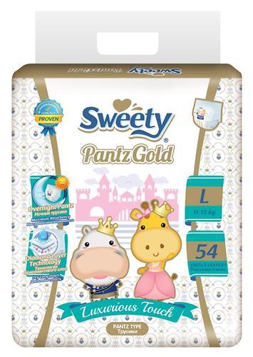 Трусики Sweety Pantz GOLD Size L 11-15 кг 54 шт (1)