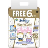 Трусики Sweety Pantz GOLD Size S 3-6 кг 36+6шт