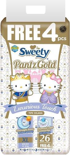 Трусики Sweety Pantz GOLD Size XL 14-18 кг 26+4 шт (1)