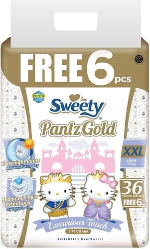 Трусики Sweety Pantz GOLD Size XXL 17-25 кг 36+6 шт (1)
