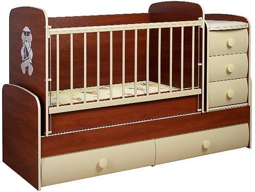 Кроватка-трансформер Glamvers Comfort Vip Яблоня Локарно (5)