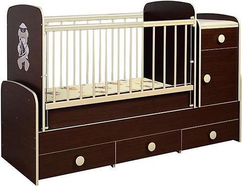 Кроватка-трансформер Glamvers Comfort Plus Венге (5)