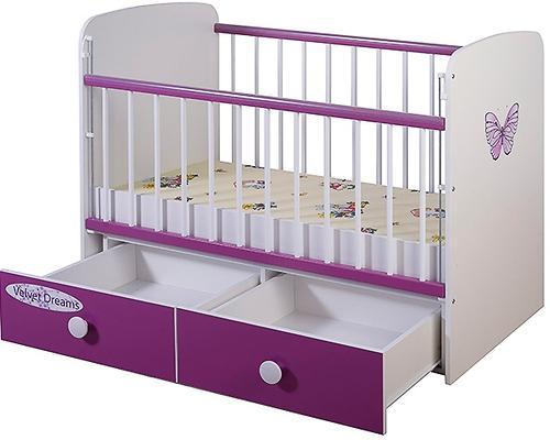 Кроватка Glamvers Magic Plus Фиолетовая Бабочка (5)