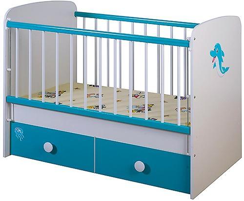 Кроватка Glamvers Magic Plus Голубая Дельфин (4)