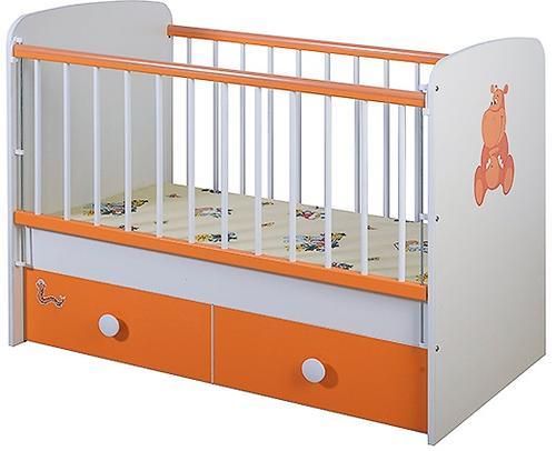 Кроватка Glamvers Magic Plus Оранжевая Бегемот (4)