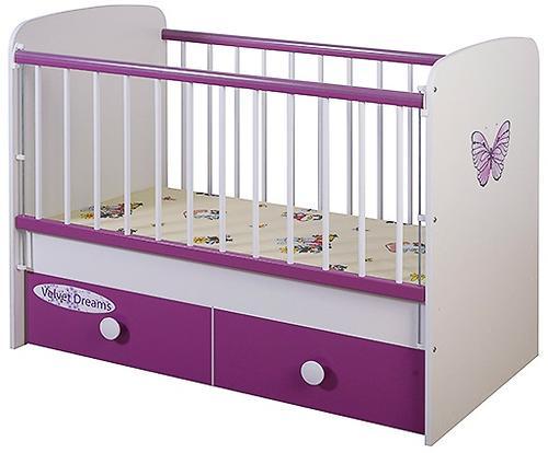Кроватка Glamvers Magic Plus Фиолетовая Бабочка (4)
