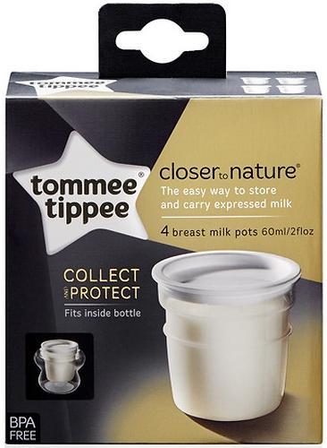 Контейнеры Tommee Tippee для хранения молока 4 шт (4)